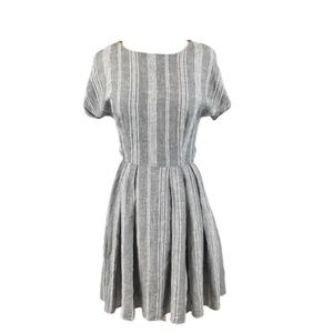 Halogen grey and white ferry dress